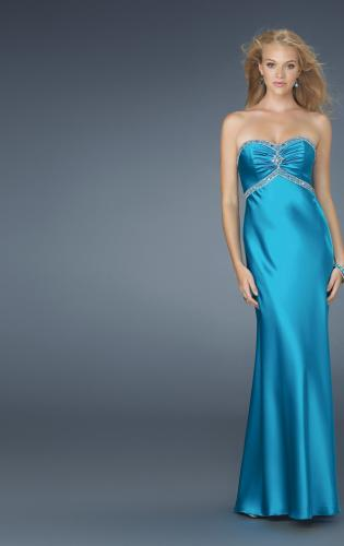 Picture of: Strapless Prom Dress with Beaded Neckline, Style: 14574, Main Picture