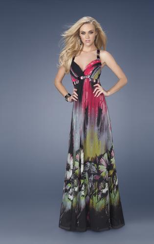 Picture of: Printed Prom Gown with Accent Beading, Style: 15057, Main Picture