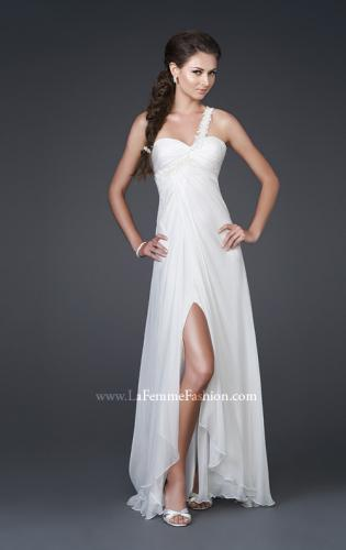 Picture of: Chiffon Gown with Floral Beaded One Shoulder Strap, Style: 15161, Main Picture