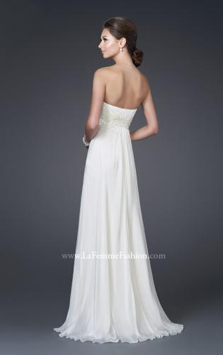 Picture of: Chiffon Gown with Floral Beaded One Shoulder Strap, Style: 15161, Back Picture