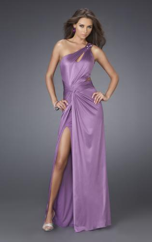 Picture of: Jersey One Shoulder Dress with Jeweled Strap and Slit, Style: 15172, Main Picture