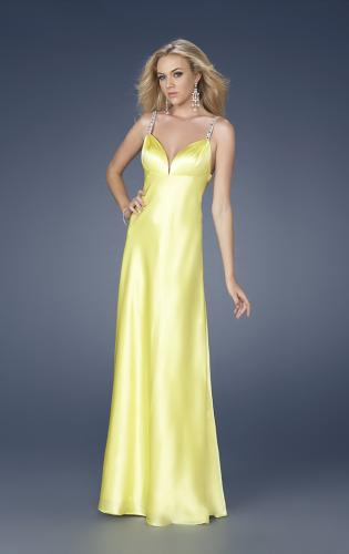 Picture of: Satin Dress with Beaded Straps and Low Beaded Back, Style: 15179, Detail Picture 1