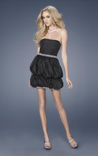 Picture of: Short Taffeta Dress with Double Bubble Hem, Style: 15230, Main Picture