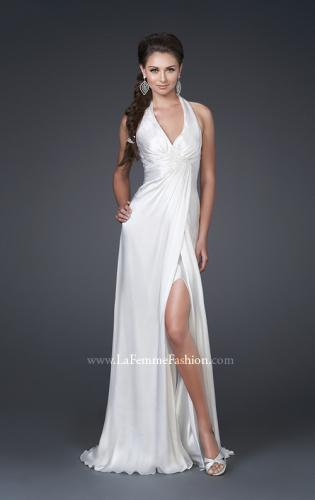 Picture of: Silk Halter Gown with Deep V Neck and Low Back, Style: 15271, Main Picture