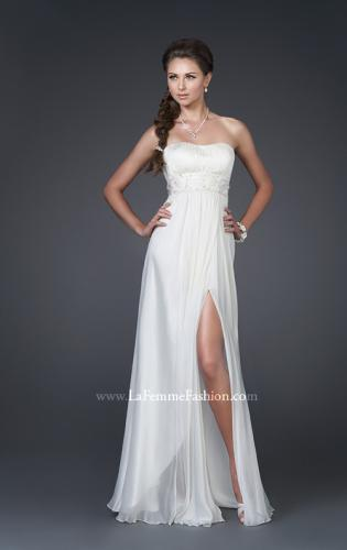 Picture of: Strapless Gown with Ruched Bodice and Beaded Waist, Style: 15282, Main Picture