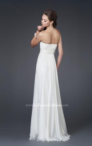 Picture of: Strapless Gown with Ruched Bodice and Beaded Waist, Style: 15282, Back Picture