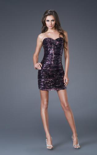 Picture of: Fully Sequined Short Tube Sweetheart Neckline Dress, Style: 15850, Main Picture
