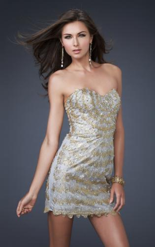 Picture of: Sultry Short Hand Painted Cocktail Dress, Style: 16137, Main Picture