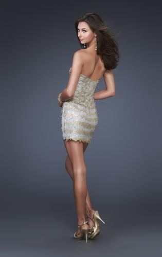 Picture of: Sultry Short Hand Painted Cocktail Dress, Style: 16137, Back Picture