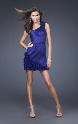 Picture of: Floral Embellished One Shoulder Short Dress, Style: 16155, Main Picture