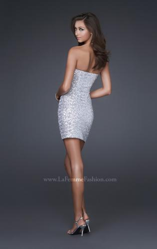 Picture of: Sexy Short Ombre Sequined Dress with Beading, Style: 16285, Back Picture