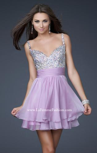 Picture of: Short Dress with Fully Embellished Top and Tulle., Style: 16813, Main Picture