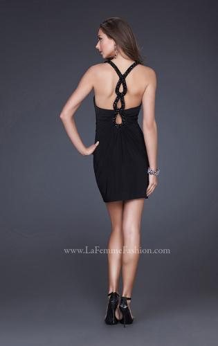 Picture of: Short Keyhole From Dress with Beading and Cut Outs, Style: 16855, Back Picture