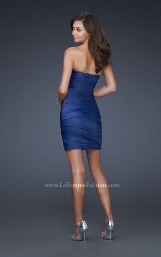 Picture of: Strapless Short Dress with Gems and Pleating, Style: 16934, Back Picture