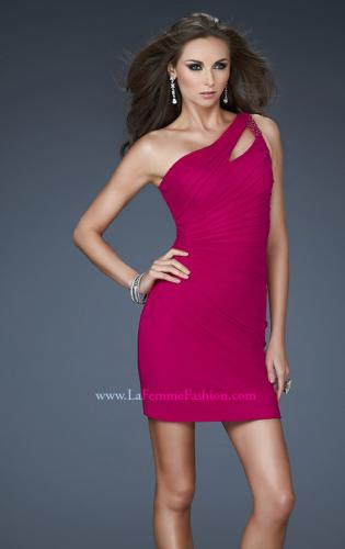 Picture of: Short Net Dress with Beaded One Shoulder Strap, Style: 16958, Detail Picture 1