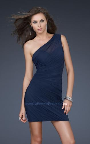 Picture of: One Shoulder Cocktail Dress with Gathering, Style: 16959, Main Picture