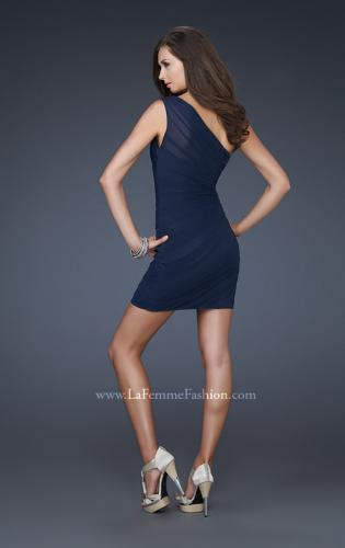 Picture of: One Shoulder Cocktail Dress with Gathering, Style: 16959, Back Picture
