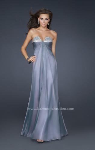 Picture of: Strapless Long Chiffon Prom Dress with Rhinestones, Style: 16970, Main Picture