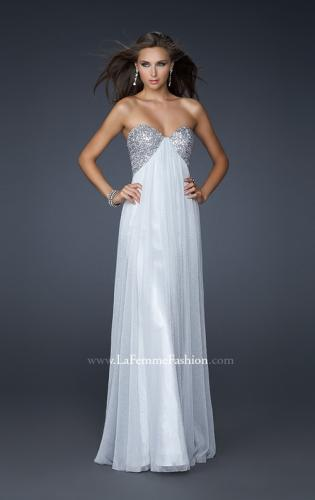 Picture of: Floor Length Metallic Jersey Prom Dress with Sequins, Style: 16977, Main Picture