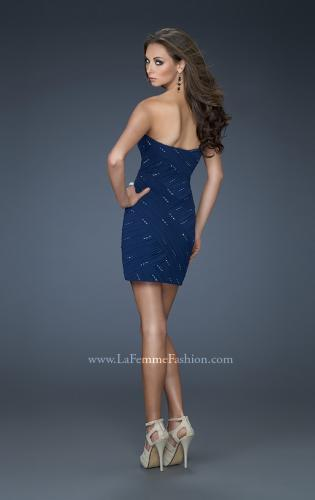 Picture of: Strapless Sweetheart Short Dress with Embellishments, Style: 16989, Back Picture