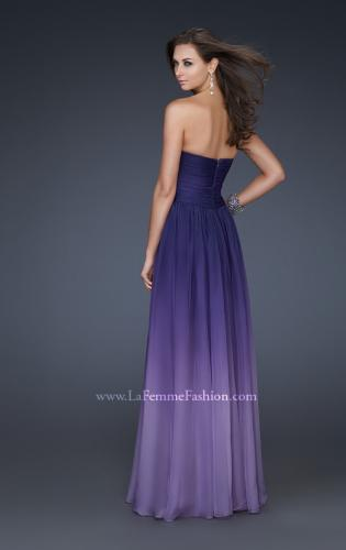 Picture of: Ombre Chiffon Prom Gown with Sweetheart Neckline, Style: 17004, Back Picture