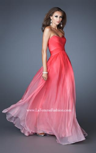 Picture of: Ombre Chiffon Prom Gown with Sweetheart Neckline, Style: 17004, Detail Picture 1