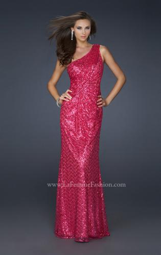 Picture of: One Shoulder Sequined Long Prom Dress, Style: 17018, Detail Picture 1