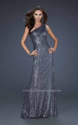 Picture of: One Shoulder Sequined Long Prom Dress, Style: 17018, Detail Picture 2