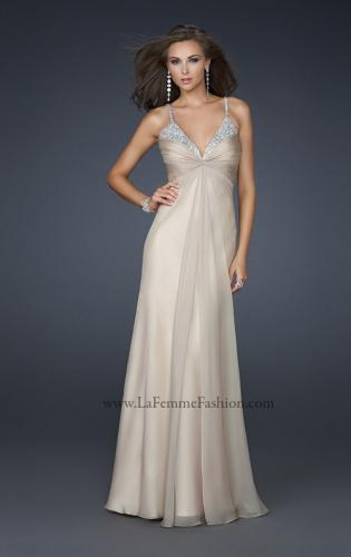 Picture of: Floor Length Chiffon Prom Gown with Stones and Cut Outs, Style: 17019, Main Picture
