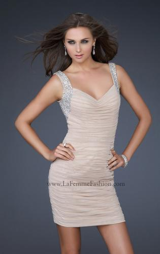 Picture of: Sexy Short Cocktail Dress with Jeweled Shoulder Straps, Style: 17021, Main Picture
