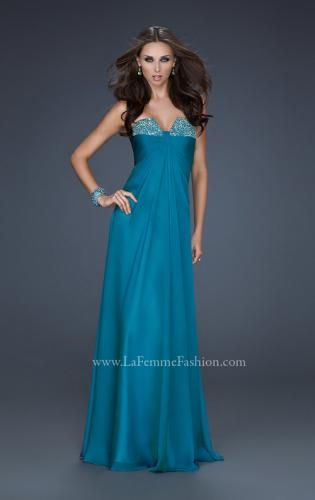Picture of: Strapless Incrusted Chiffon Prom Dress with Gathering, Style: 17037, Detail Picture 1