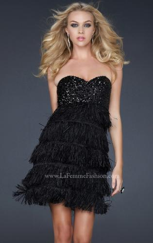 Picture of: Strapless Sweetheart Rhinestone Cocktail Dress, Style: 17078, Main Picture
