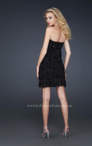Picture of: Strapless Sweetheart Rhinestone Cocktail Dress, Style: 17078, Back Picture