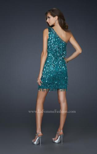 Picture of: Sexy Cocktail Dress with One Strap Cut and Sequins, Style: 17093, Back Picture
