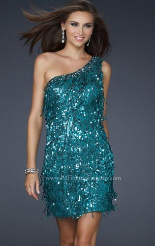 Picture of: Sexy Cocktail Dress with One Strap Cut and Sequins, Style: 17093, Detail Picture 1