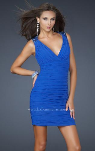 Picture of: Short Cocktail Dress with Detailed Shoulder Straps, Style: 17153, Main Picture