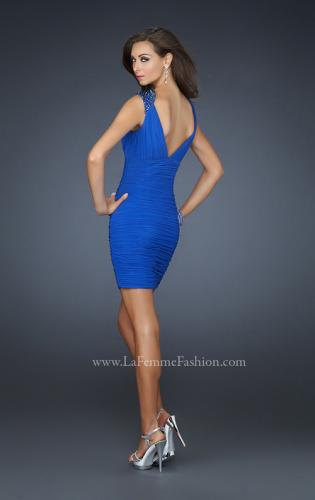 Picture of: Short Cocktail Dress with Detailed Shoulder Straps, Style: 17153, Back Picture