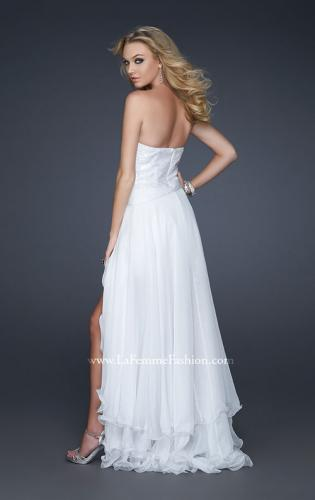 Picture of: Glam Strapless Prom Gown with Embellished Waist, Style: 17377, Back Picture