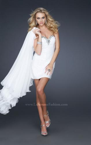 Picture of: Glam Strapless Prom Gown with Embellished Waist, Style: 17377, Detail Picture 1