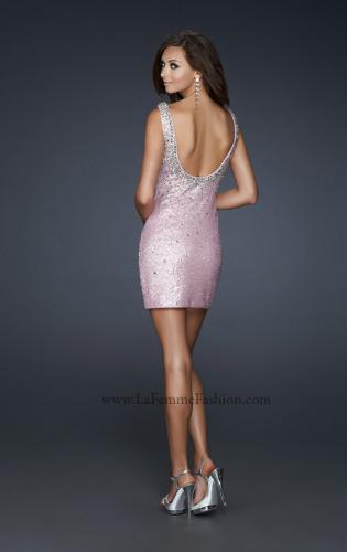 Picture of: Scoop Neck Cocktail Dress with All Over Sequins, Style: 17413, Back Picture