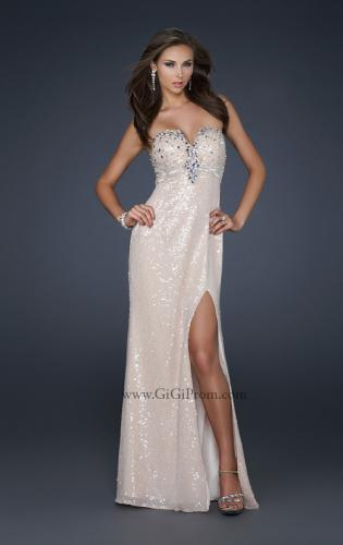 Picture of: Sexy Strapless Sequined Prom Dress with Beading and Slit, Style: 17466, Main Picture