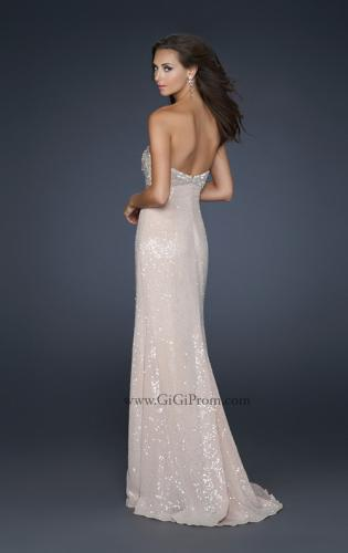 Picture of: Sexy Strapless Sequined Prom Dress with Beading and Slit, Style: 17466, Back Picture