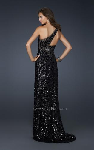 Picture of: Long One Shoulder Prom Dress that is Fully Sequined, Style: 17483, Main Picture