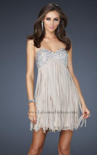 Picture of: Strapless Prom Dress with Layered Chiffon Effect, Style: 17492, Main Picture