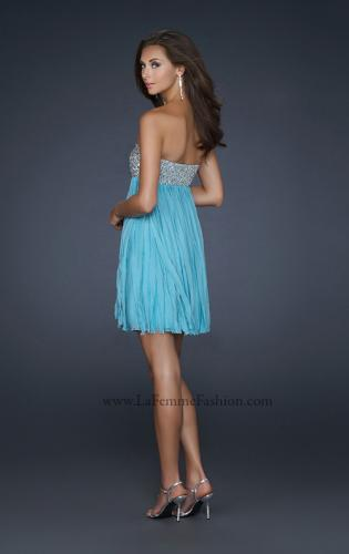Picture of: Strapless Prom Dress with Layered Chiffon Effect, Style: 17492, Back Picture