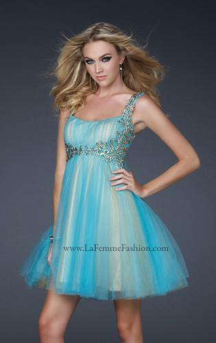 Picture of: Goddess Inspired Short Dress with Embellished Shoulders, Style: 17500, Detail Picture 1