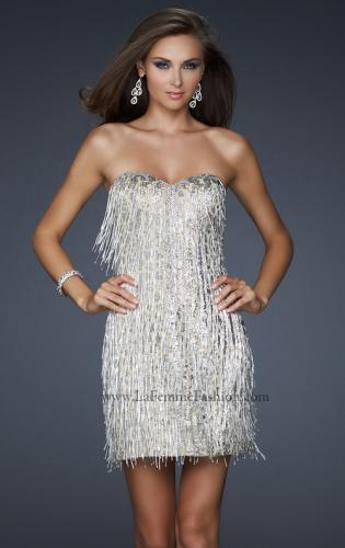 Picture of: Short Strapless Cocktail Dress with Sequined Bodice, Style: 17529, Detail Picture 1