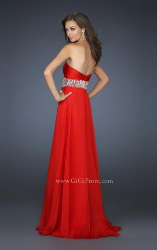 Picture of: Sweetheart Neck Long Gown with Intricate Beading, Style: 17602, Back Picture