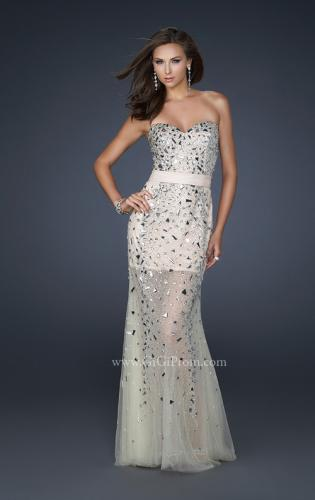 Picture of: Sheer Beaded Prom Dress with Sweetheart Neckline, Style: 17603, Main Picture