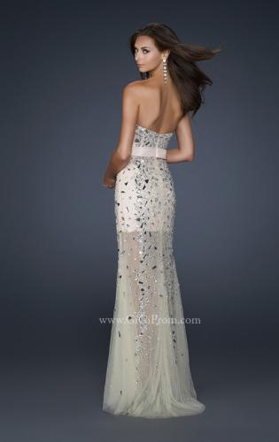Picture of: Sheer Beaded Prom Dress with Sweetheart Neckline, Style: 17603, Back Picture